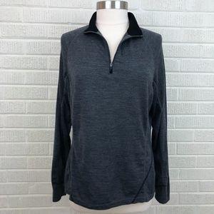 ibex Women's 1/4 Zip Pullover Top Shirt Gray - XL